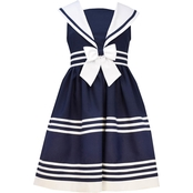 Bonnie Jean Little Girls Sailor Banding Dress