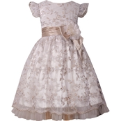 Bonnie Jean Little Girls Embroidered Flutter Social Dress