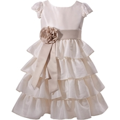 Bonnie Jean Little Girls Bow Back Tiered Dress