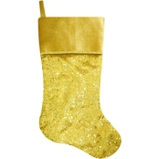 ICE Design Factory 20.5 in. Gold Sequin Stocking
