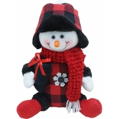 ICE Design Factory Sitting Snowman Christmas Decor