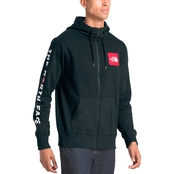 The North Face Red Box Patch Full Zip Hoodie