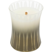 WoodWick Applewood Frosted Etched Candle, Medium