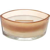 WoodWick Fireside Gloss Glass Ellipse Candle