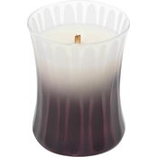 Woodwick Medium Spiced Blackberry Frosted Etched Candle