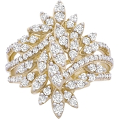 10K Fashion 1 CTW Marquise Cluster Ring Size 7