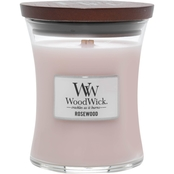 Woodwick Medium Rosewood Glass Candle