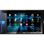 JVC 6.2-in. Double DIN In Dash DVD Receiver with Bluetooth and SiriusXM Ready