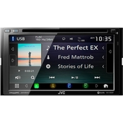 JVC 6.8 in. Double-DIN In-Dash DVD Receiver with Bluetooth