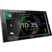 JVC KW-M855BW 6.8 in. Double-DIN In-Dash Digital Media Receiver Bluetooth Wi-Fi