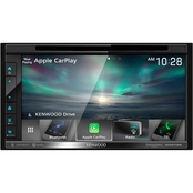 Kenwood 6.8 in. Double-DIN In-Dash DVD Receiver with Bluetooth