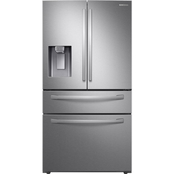 RF28R7351SR/AA 28 cu. ft. 4-Door French Door Refrigerator with Food Showcase