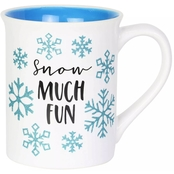 Our Name is Mud 16 oz. Glitter Snowflake Mug