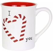 Our Name is Mud Glitter Candy Cane Mug 16 oz.