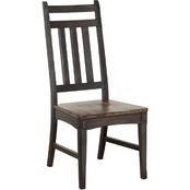 Chelsea Home Furniture Shelton Jacobean Rustic Side Chair