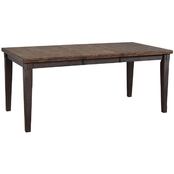 Chelsea Home Furniture Shelton Jacobean Rustic Dining Table