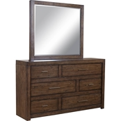 aspenhome Modern Loft Collection Dresser and Mirror