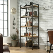 Sauder Iron City Tall Bookcase