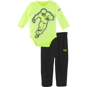 Under Armour Infant Boys Football Player Tee and Pants Set