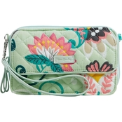 Vera Bradley All in One Crossbody, Mint Flower