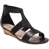 Clarks Abigail Lily Low Wedge Sandals