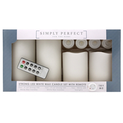 Simply Perfect LED White Candles 9 pk.