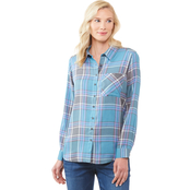 JW Roll Tab Plaid 1 Pocket Camp Shirt