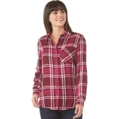 JW Roll Tab Plaid Camp Shirt