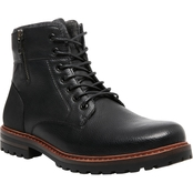 Steve Madden Men's M Mansol Lace Up Combat Boots with Side Zip