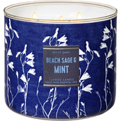 Bath & Body Works Beach House: 3 Wick Candle Beach Sage and Mint