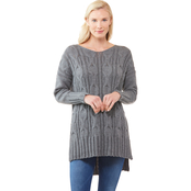 JW Scoop Neck Cable Knit Sweater
