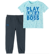 Under Armour Infant Boys The Real Boss Tee and Shirt Set
