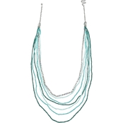 Jules B Tattle Teal Multi Row Long Necklace