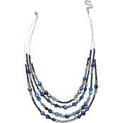 Jules B In the Blues 4 Row Illusion Necklace