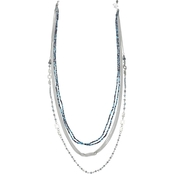 jules b In the Blues Seed Bead Long Necklace