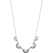 Lucky Brand Aqua Stone Collar Necklace
