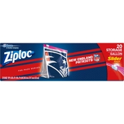 ZIPLOC NFL DALLAS COWBOYS SLIDER GALLON 20 CT