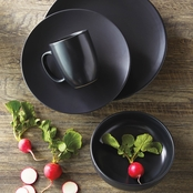 Simply Perfect 16 pc. Matte Black Dinnerware Set