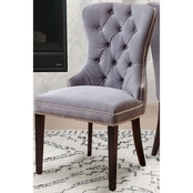 Abbyson Versailles Tufted Dining Chair, Ivory