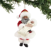 Possible Dreams Merry Christmas Santa Hanging Ornament, African-American