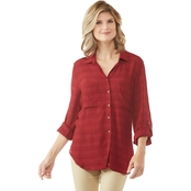 Passports Plaid Front Shirt
