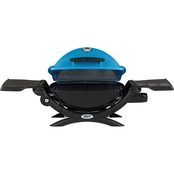 Weber Q1200 Blue Grill with Side Tables