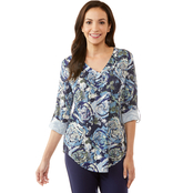 Passports Abstract Floral Top