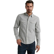 Lucky Brand Heather Double Weave Shirt