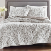 Martha Stewart Collection 100% Cotton Chateau Full/Queen Quilt
