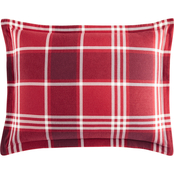 Martha Stewart Collection Ticking Plaid Flannel Standard Sham