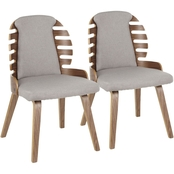 LumiSource Palm Dining Chair 2 pk.
