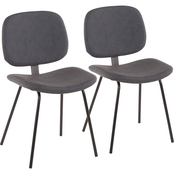 LumiSource Industrial Nunzio Chair 2 pk.