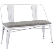 LumiSource Oregon Upholstered Bench