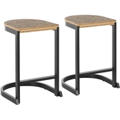 LumiSource Industrial Demi Counter Stool 2 pk.